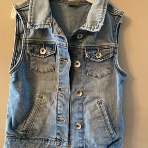 No sleeve kids jeans jacket Zara